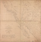 1823 - Carta esferica de los territorios de la alta y baja Californias y estado de Sonora from US Library of Congress.
