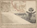1750 (ca) - Mapa y tabla geografica de leguas comunes que hay de unos á otros lugares y ciudades principales de la America