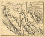 1777 - Carte de la Californie : suivant I. la Carte manuscrite de l'Amérique de Mathieu Néron Pecci olen dresses à Florence en 1604, II. Sanson 1656, III. De l'Isle Amérique Sept. 1700, IV. le Pere Kino Jesuite en 1705, V. la Société des Jésuites en 1767.