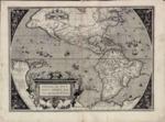 1588 - Americae sive Novi Orbis nova descriptio - Cum privilegio decennali Ab. Ortelius delineab. et excudeb. 1587