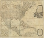 1783 - New Map of North America with West India Islands, divided according to the Preliminary Articles of Peace, Signed at Versailles, 20, Jan. 1783, wherein are particularly Distinguished The United States, and the Several Provinces, Governments & ca which Compose the British Dominions, Laid down according to the Latest Surveys, and Corrected from the Original Materials of Goverr. Pownall, Membr. of Parlimnt.