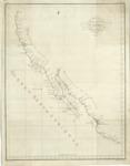 1792 – Número 1°, Carta Esferica de los Reconocimientos Hechos en la Costa N.O. de América en 1791 y 92 por las Goletas Sutil y Mexicana