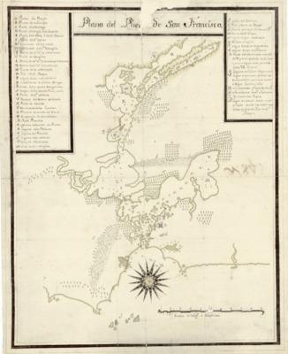 Pre 1824 maps spanish viceroyalty ad 15421769 1821 1776 plano del puerto de san francisco thecheapjerseys Choice Image