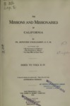 1916 - The Missions and Missionaries of California, Index to Volumes II-IV, Zephyrin Engelhardt
