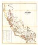 1859 - Map of Public Surveys in California