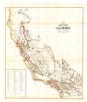 1859 - Map of Public Surveys in California