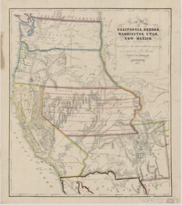 American Period Maps American Period California State - Map of the us in 1853