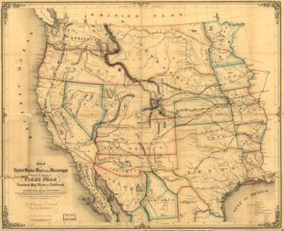 American Period Maps American Period California State - Us boundaries in 1853 map
