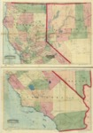 1874 - Commercial and topographical rail road map & guide of California and Nevada