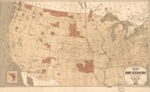 1883 - Map showing Indian reservations with the limits of the United States