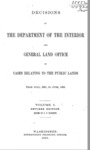 1887 - Decisions of the Department of the Interior and General Land Office in Cases Relating to Public Lands from July 1881 to June 1883, Volume I, Revised Edition