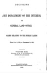 1892 - Decisions of the Department of Interior and General Land Office, July 1, 1891 - December 1, 1891