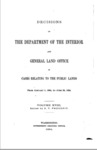 1894 - Decisions of The Department of Interior and General Land Office in Cases Relating to Public Lands from Jan. 1 to June 30, 1894