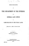 1897 - Decisions of the Department of Interior and General Land Office from July 1, 1896 to  June 30, 1897
