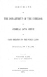 1899 - Decisions of Department of Interior and General Land Office from January 1899 to June 30, 1899
