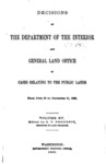 1893 - Decisions of the Department of Interior and General Land Office from June 30 to December 31, 1892