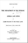 1891 - Decisions of the Department of Interior and General Land Office from January to June 30, 1891