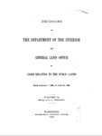1890 - Decisions of the Department of Interior and General Land Office from January to June 30, 1890
