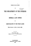 1895 - Decisions of the Department of Interior and General Land Office from January 1 to June 30, 1895