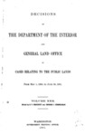 1901 - Decisions of the Department of Interior and General Land Office from May 1, 1900 to June 30, 1901