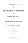 1896 - Decisions of Department of Interior and General Land Office, from January 1896 to July 1896