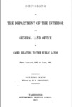 1897 - Decisions of Department of Interior and General Land Office from January  1897 to June  1897