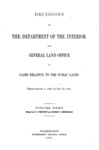 1904 - Decisions of the Department of Interior and General Land Office from January 1904 through May 1904