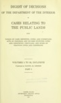 1927- Digest of Decisions of the Department of the Interior in Cases Relating to the Public Lands, Part 2, Volumes 1 to 50, Inclusive
