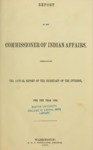 1857 - Report of the Commissioner of Indian Affairs for 1856