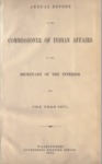 1875 - Report of the Commissioner of Indian Affairs for 1875