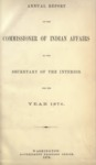 1876 - Report of the Commissioner of Indian Affairs 1876