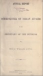 1878 - Report of the Commissioner of Indian Affairs for 1878