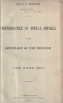 1879 - Report of the Commissioner of Indian Affairs for 1879