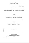 1885 - Report of the Commissioner of Indian Affairs for 1885