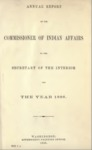 1886 - Report of the Commissioner of Indian Affairs for 1886