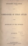 1889 - Report of the Commissioner of Indian Affairs for 1889