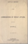 1895 - Report of the Commissioner of Indian Affairs for 1894