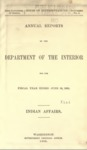 1898 - Report of the Commissioner of Indian Affairs for 1898