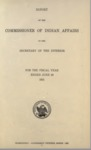1912 - Report of the Commissioner of Indian Affairs for 1911