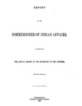 1860 - Report of the Commissioner of Indian Affairs for 1859