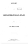 1865 - Report of the Commissioner of Indian Affairs for 1864