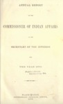 1870 - Report of the Commission of Indian Affairs for 1870