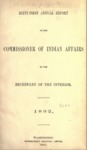 1892 - Report of the Commissioner of Indian Affairs for 1892 (pages 493-992)
