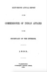 1893 - Report of the Commissioner of Indian Affairs for 1893