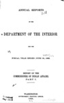 1899 - Report of the Commissioner of Indian Affairs for 1899, Part 1