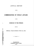 1902-1906 - Report of the Commissioner of Indian Affairs for 1902