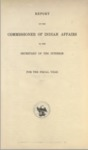 1909 - Report of the Commissioner of Indian Affairs for 1909