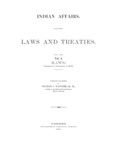 1904 - Indian Affairs - Laws and Treaties, Laws Vol I, Charles J. Kappler