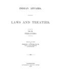 1904 - Indian Affairs - Laws and Treaties, Treaties Vol II, Charles J. Kappler
