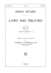 1913 - Indian Affairs - Laws and Treaties, Laws; Vol. III; Charles J. Kappler